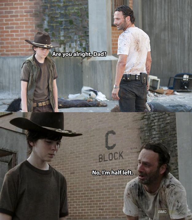 The 19 Greatest Dad Jokes From Rick Grimes  I'm laughing so hard right now that I think I've hurt myself.