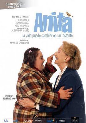 Película Anita (2009)  Cuenta la historia de Anita, una joven con Síndrome de Down que, el día del atentado a la AMIA en Argentina, el 18 de julio de 1994, aturdida por la gran explosión, se pierde en la gran ciudad.  http://www.youtube.com/watch?v=wTKaDxn-IDA
