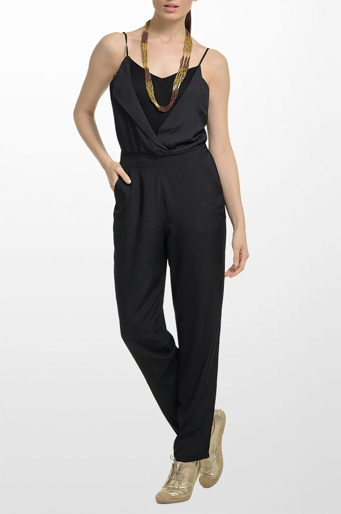 Sarah Lawrence - jump suit with combination of two fabrics.