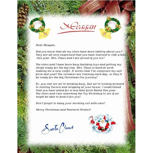 25 best ideas about Letter From Santa Template – Christmas Letter Template Free