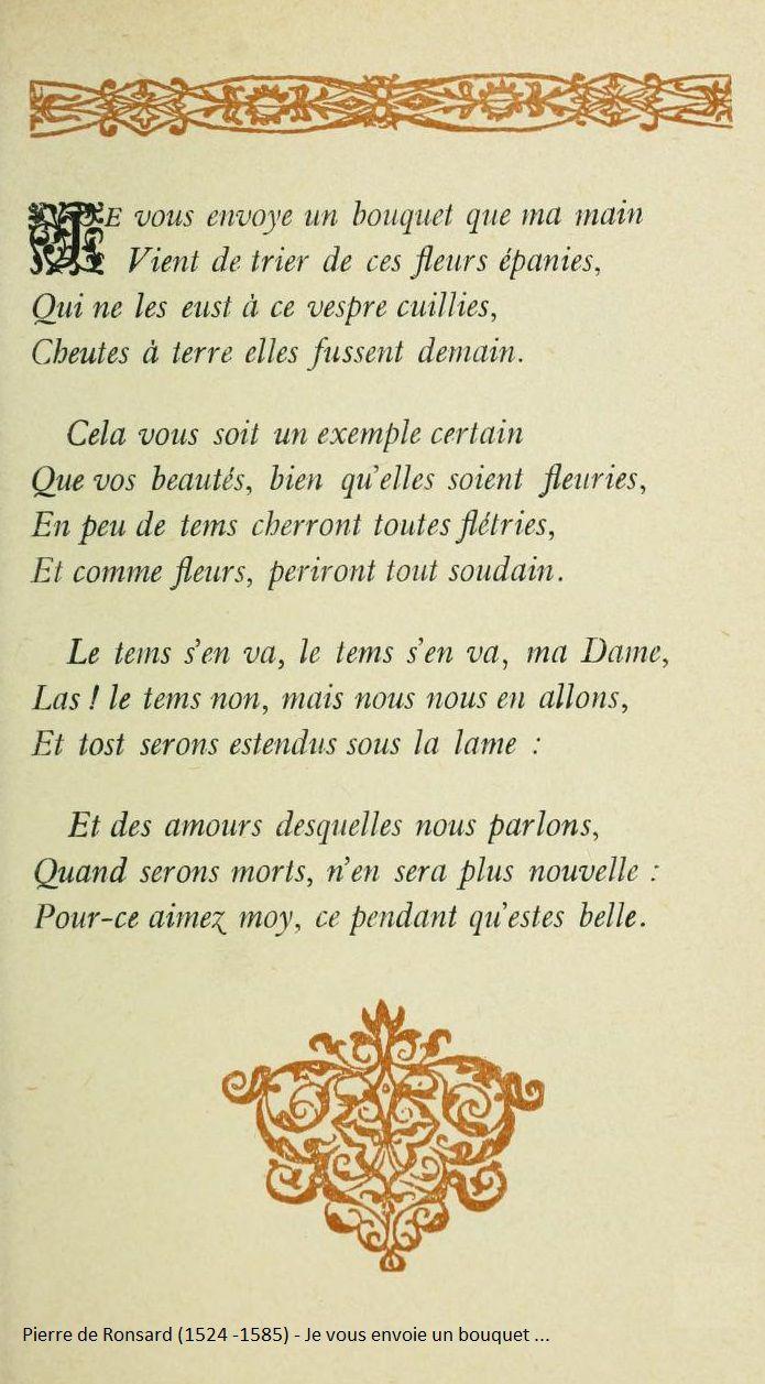 Pierre De Ronsard 1524 1585 Ronsard Citations De Poèmes