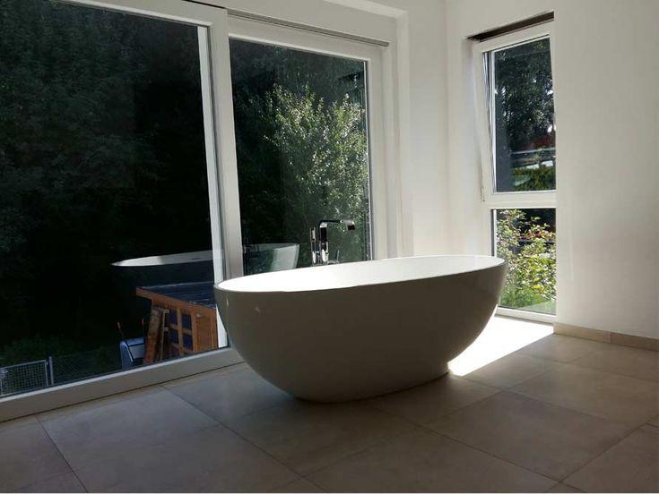 262 best Badezimmer Ideen - Kundenbäder images on Pinterest - freistehende badewanne raffinierten look