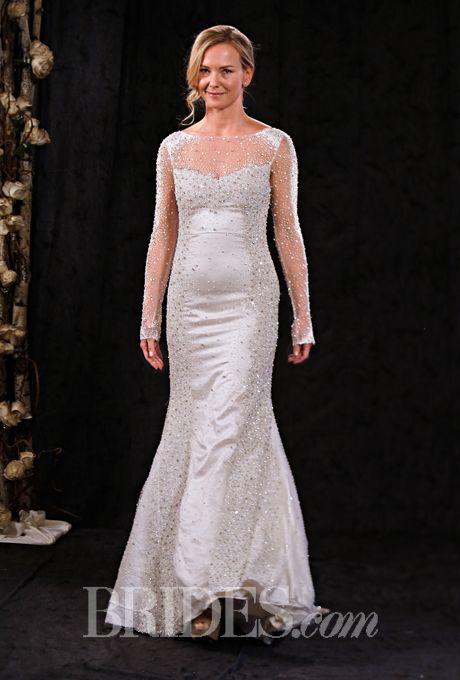 Brides.com: . Wedding dress by Anne Bowen