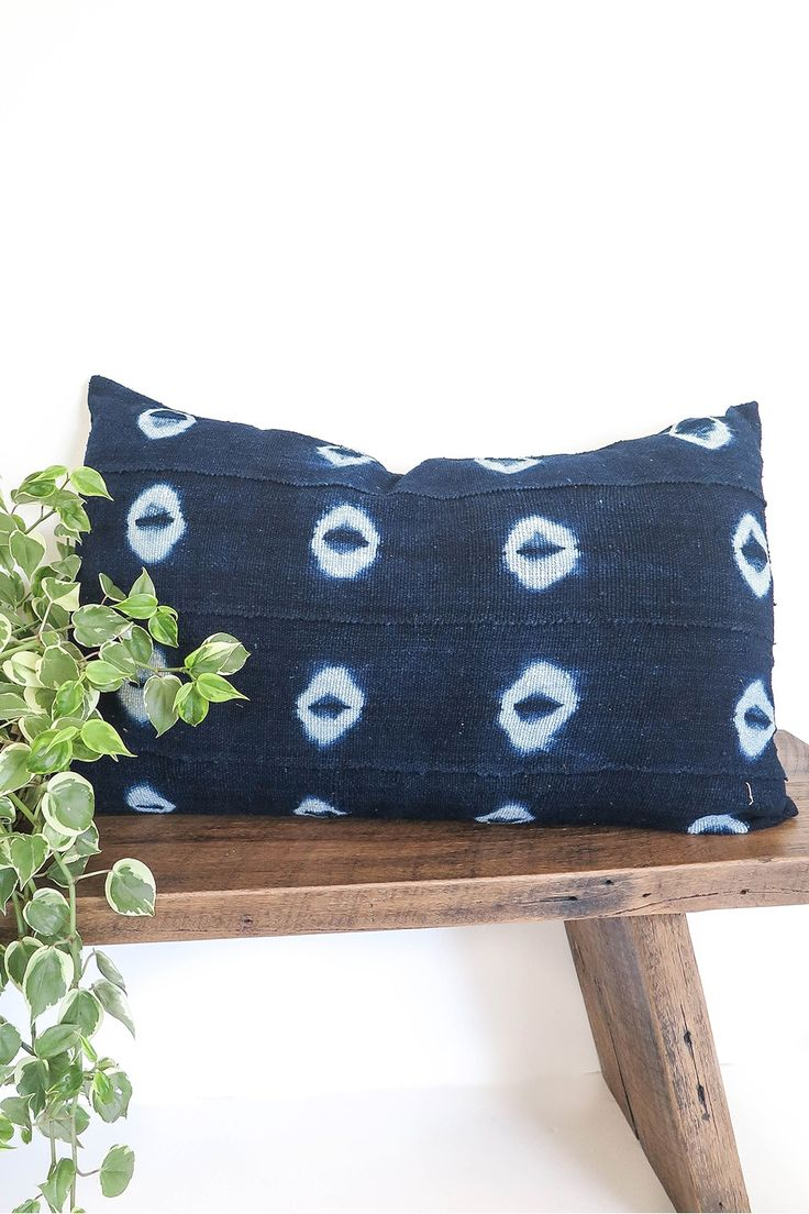 $119.00 The rich colour of indigo in these cushions is achieved using an ancient practice from West Africa, where the deep hues of blue are created by hand using a combination of special plants. Strips of hand woven fabric are then wrapped and dipped in clay pots of the indigo colour to achieve this beautiful design. How amazing and completely unique- no two pieces are ever the same! Finished with a linen back these are the perfect touch of Indigo for your home.  *Please note hand dyed…