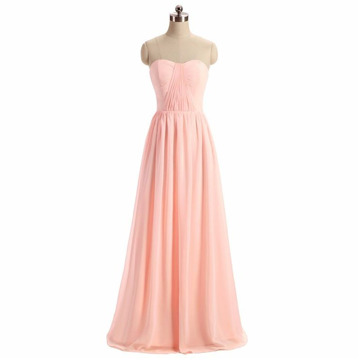 Women's Blush Light Pink Bridesmaid Dress 2017 vestido de la dama de honor Party Gown Wedding Prom Dress for Bridesmaid