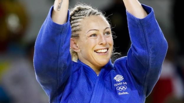 Sally Conway takes bronze in judo. 10th August 2016