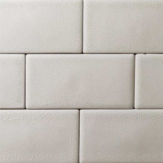 Soho Studio Baroque Crackled Series Blanco 3×6 Subway Glass Tile HDAZ