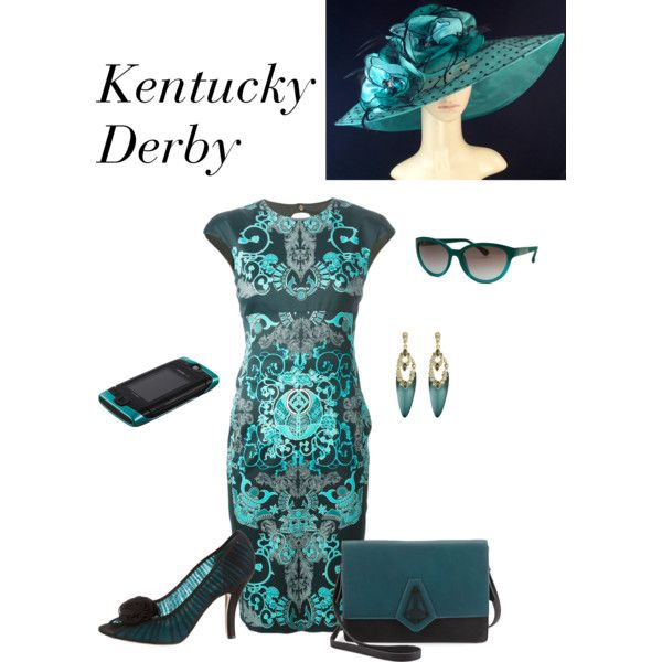 Kentucky Derby by lwilkinson on Polyvore featuring moda, Versace, Moschino, Danielle Nicole, Alexis Bittar and Calvin Klein