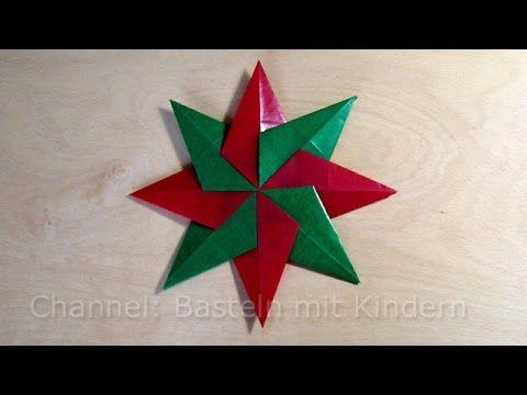 Weihnachtssterne basteln: Einfachen Stern für Weihnachten basteln mit Kindern - YouTube