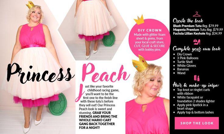 Plus Size Princess Peach Costume – Society+  Plus Size DIY Costumes  Plus Size Tutus