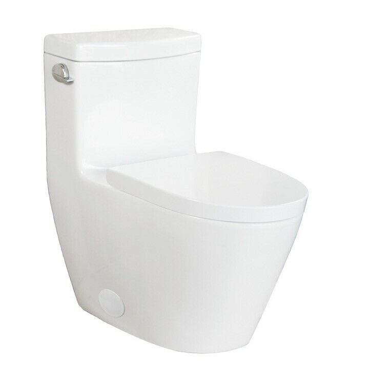 Details About Contemporary Dual Flush Elongated 1 Piece Toilet Soft Closing Seat 2 Toilets Toilet Home Depot Toilets Toto Toilet