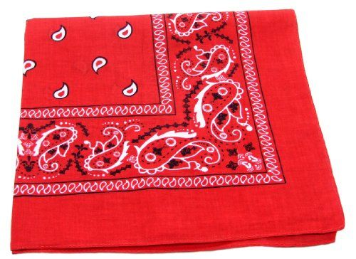 """100% Cotton Double Sided Print Paisley Bandana Scarf, Head Wrap - Red, 22"""" X 22"""" One Source Shop,http://www.amazon.com/dp/B008TZ3AOG/ref=cm_sw_r_pi_dp_XZoBtb11AY3E6XEB"""