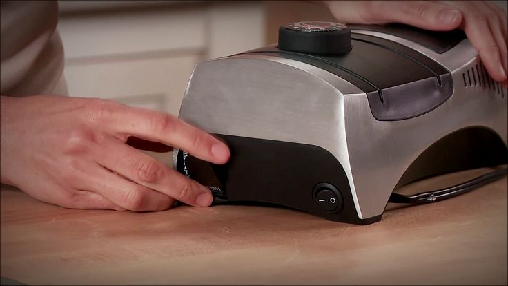 KitchenIQ 50353 Angle Adjust Adjustable is a professional Electric Knife Sharpener. This is a versatile knife sharpener. Use the fine ceramic slot for every day light touch up and polishing of the knife. It is one of the best now.