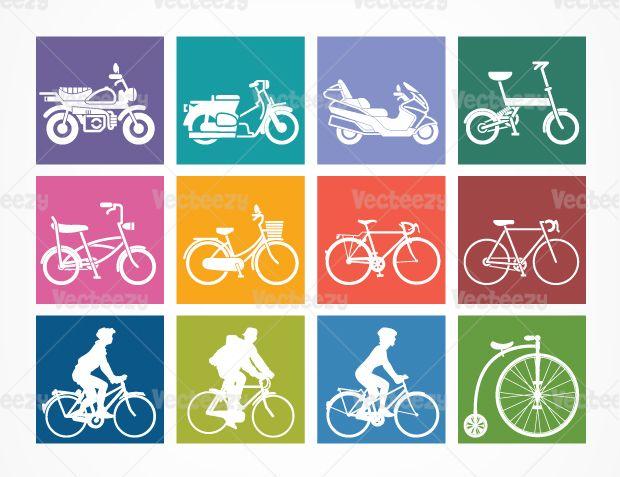 Motor-bikes-icons-vecteezy