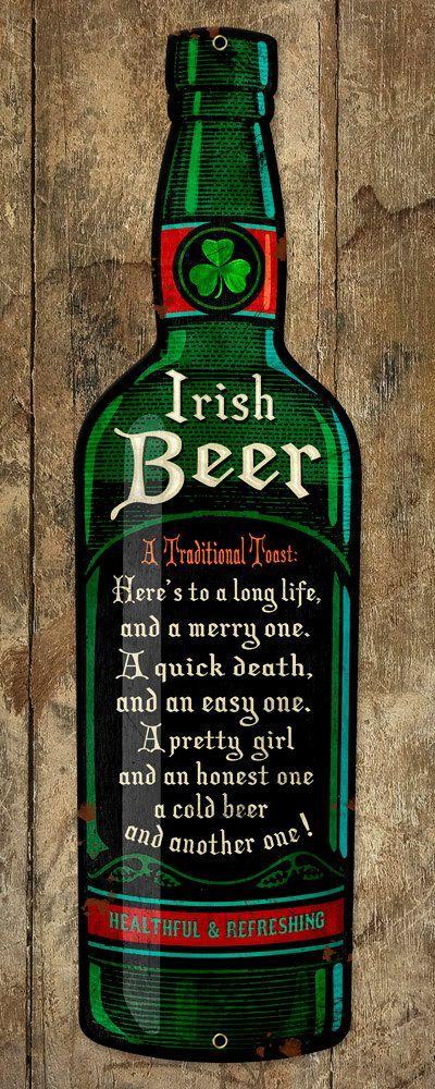 Metal Beer Bottle Shaped Pub Sign