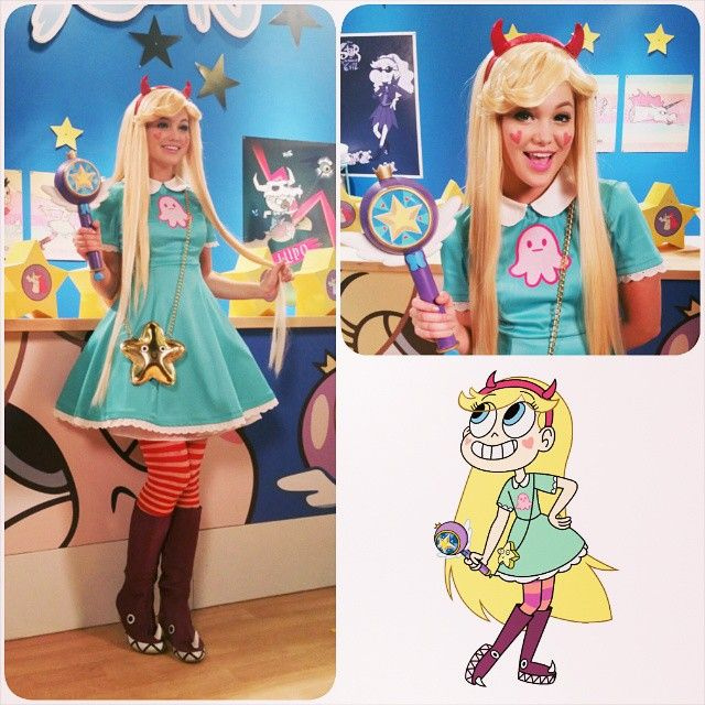 I can finally post about this!! I got to dress up @olivia_holt as Star Butterfly for a series of promos for #StarvstheForcesofEvil! The commercials should be airing now on Disney Channel and Disney XD!  This was so much fun to work on. Look how cute she is!!! Costume: @Manzinat0r Makeup: @kkkkkkiyo Wig: @untamedinstinct  #costuming #costumedesign #disney