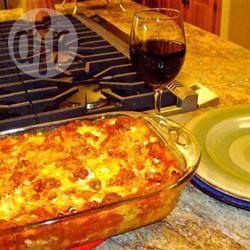 Foto de receta: Lasagna de carne picada con tres quesos