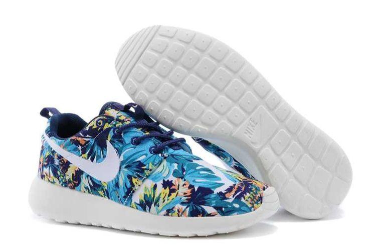 Discounts Nike Roshe Run Pattern Womens SeaMulti Color Discount