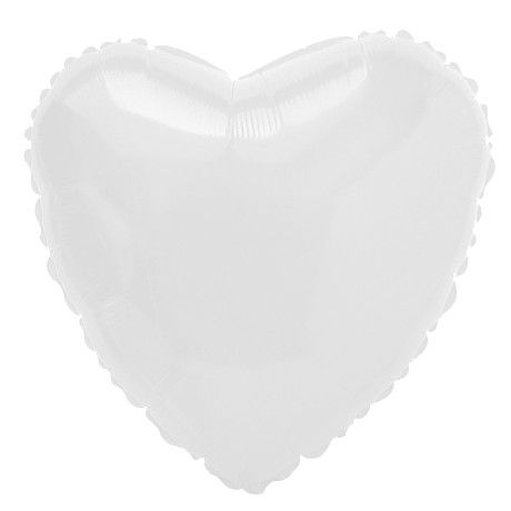Balão metalizado Coração Branco - Acessorios para Festas - Acessórios para Festas | Artigos para festas