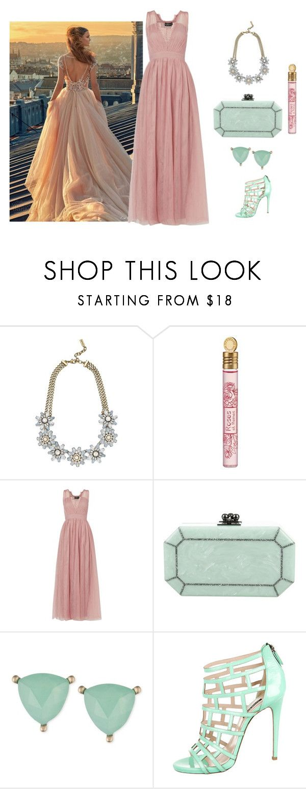 """""""Pink and Mint green"""" by fashionfan-8 ❤ liked on Polyvore featuring GALA, BaubleBar, L'Occitane, Little Mistress, Edie Parker, Lonna & Lilly and Ruthie Davis"""