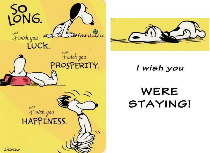 Snoopy Goodbye card Peanuts Cards Pinterest Snoopy and - farewell invitations templates