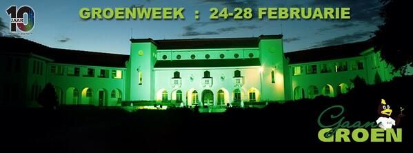 Go green! Electricity Saving Competition at Potchefstroom campus. Image supplied by North-West University.