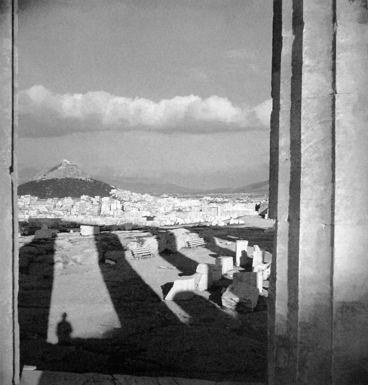 Lycabettus from Erechtheion, Athens 1935-39, photo by Voula Papaioannou- Phorographic Archives of the Benaki Museum