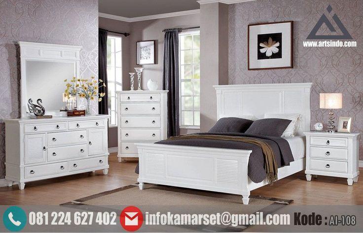 Jual Set Tempat Tidur Minimalis Putih Klasik Modern Set Tempat Tidur…