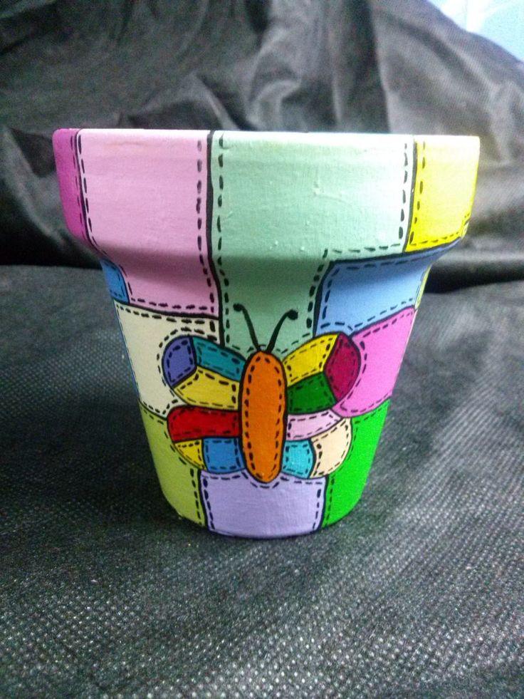 Macetas Pintadas A Mano Ideal Para Cactus O Suculentas - $ 45,00