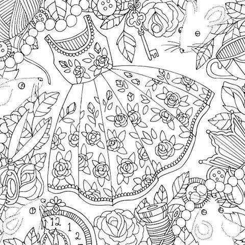 Adult Coloring Pages Books Stress Fashion Mode Doodles
