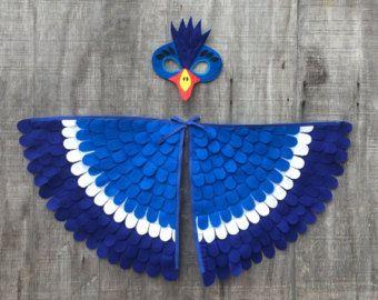 Magical Huhn Kostüm Flügel und Maske: 0-24 von TreeAndVine auf Etsy