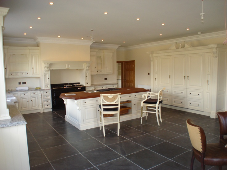 Clive christian victorian ivory kitchen with sub zero and wolf appliances and 4 oven aga - Clive christian kitchen cabinets ...