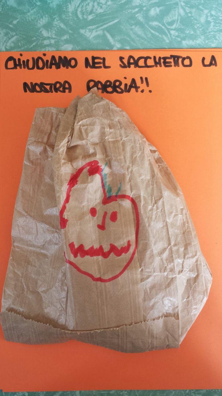 Ecco come abbiamo concluso la parte di progetto dedicata al sentimento della rabbia.   Ogni bambino ha portato a scuola un sacchetto di cart...