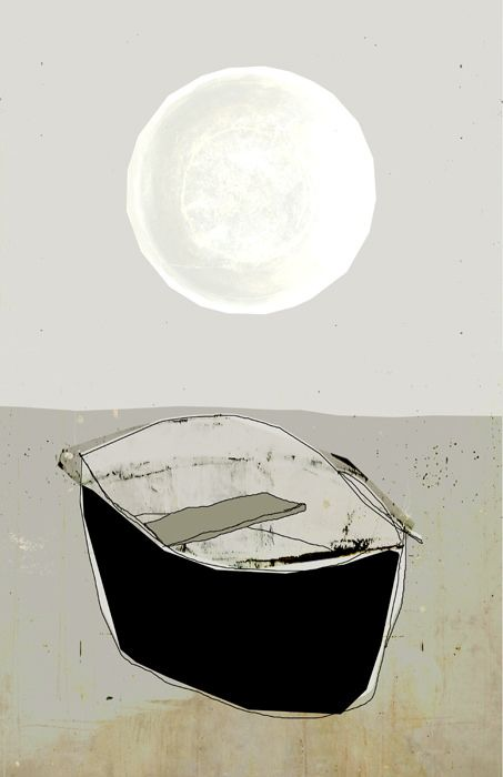 une barque au clair de lune https://www.facebook.com/pages/Linda-Vachon-t%C3%AAte-de-caboche/655536421196097