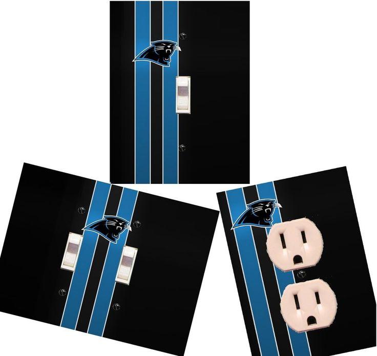 Carolina Panthers Light Switch Wall Plate Custom Covers Man Cave Room Decor | eBay