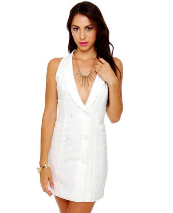 Bonnie Parker Ivory Halter Dress