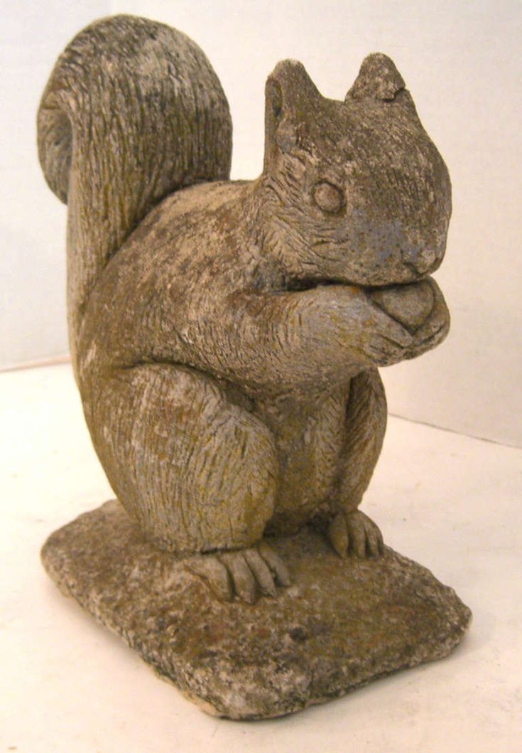 Belgian Cast Stone Squirrel Garden Ornament