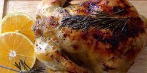 Receta de Pollo relleno de ciruelas y nueces