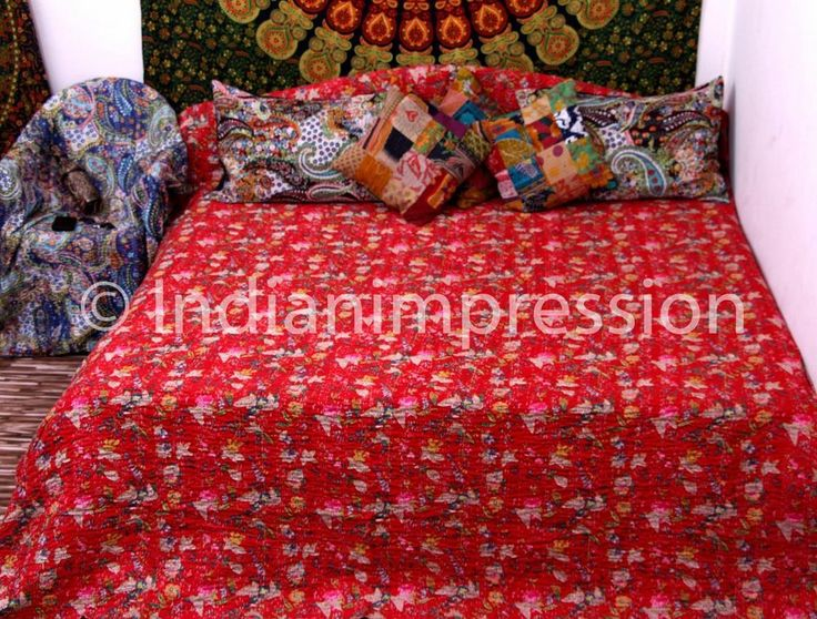 55 best Kantha Quilts, Throws & Rugs images on Pinterest | Bed ... : ethnic quilt - Adamdwight.com