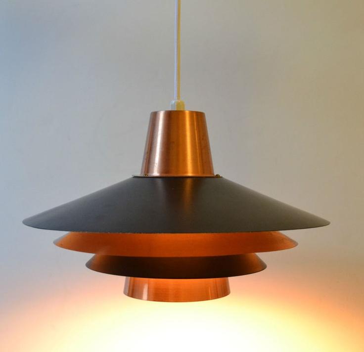 Danish Modern L&/Light 1960s Atomic Copper Solid Metal Mid Century Retro Space & 28 best Danish Modern Lighting images on Pinterest   Ceilings ... azcodes.com