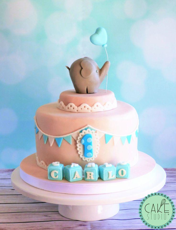 torta con elefantino e palloncino