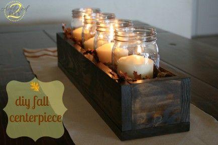 DIY wooden box as a Thanksgiving centerpiece!