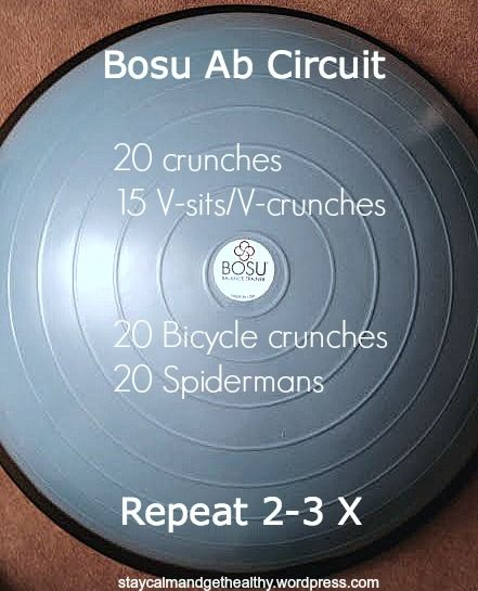 Bosu Ball Ab Chair: 10 Best Images About Bosu Ball Workouts On Pinterest