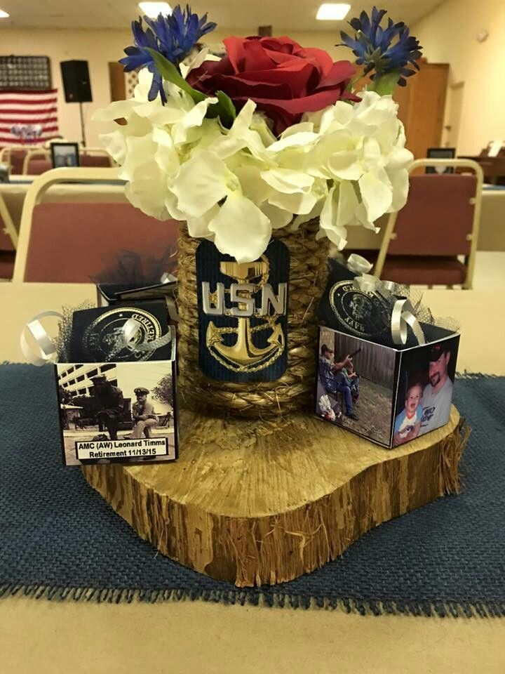 Military Retirement Centerpieces Party Ideas Military