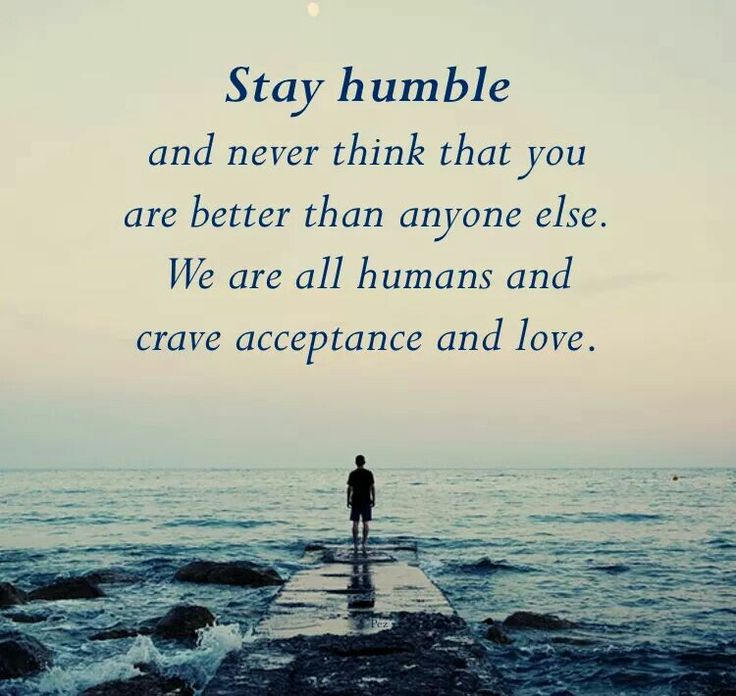 Thoughts on being humble