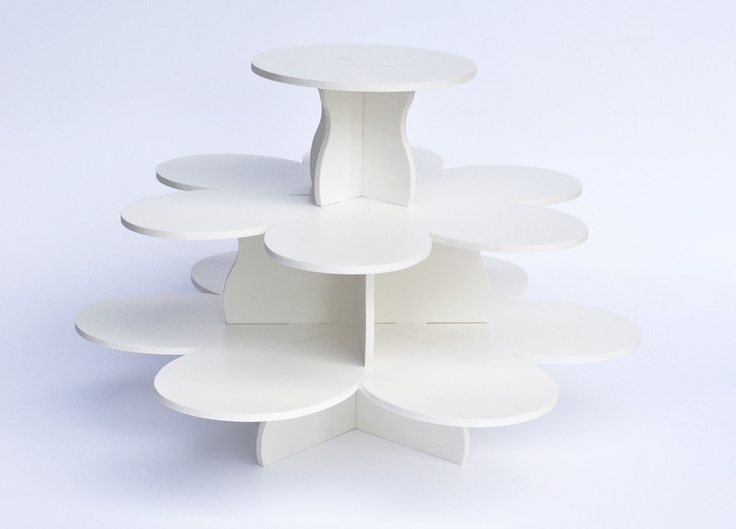 Flower Cupcake Stand  Reusable by TheSmartBaker on Etsy, $34.95