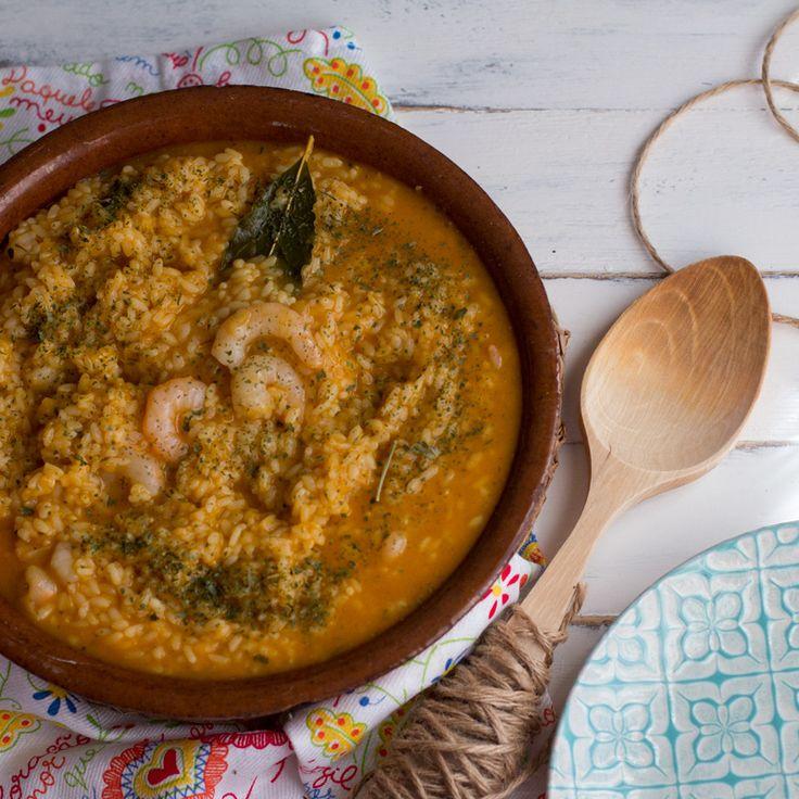 Cómo preparar arroz caldoso con gambas con Thermomix