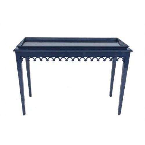 Oomph Newport Console. 47w x 18d x 33h $2915 retail. shown in club navy with all lacquer