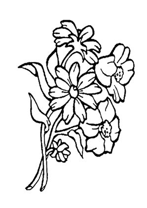Blumenstrauss 41 zum Ausmalen #Ausmalbilder #
