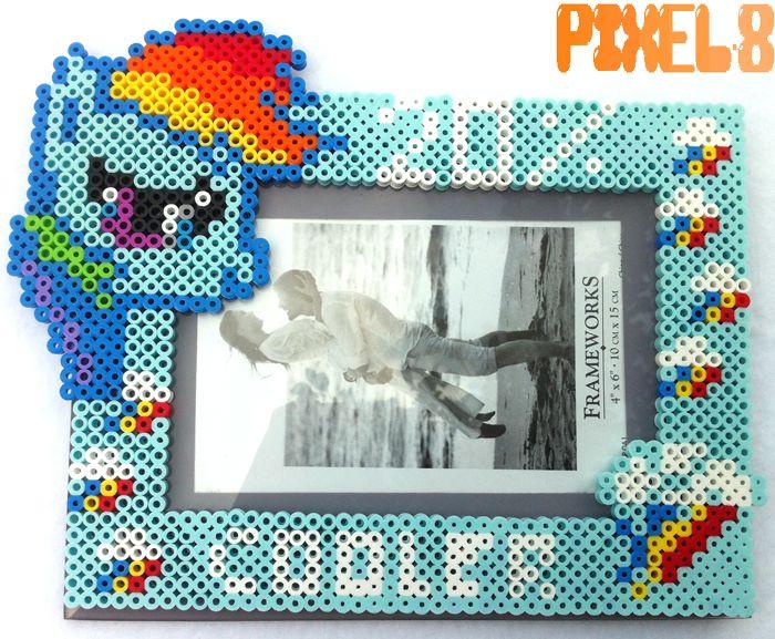 MLP photo frame perler beads by seethecee on deviantart